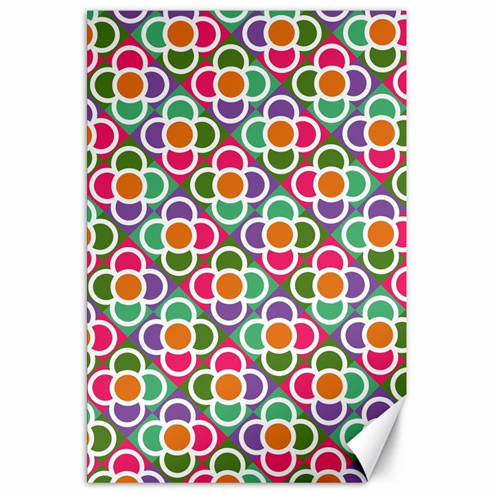 Modernist Floral Tiles Canvas 20  x 30