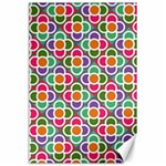 Modernist Floral Tiles Canvas 24  x 36  36 x24 Canvas - 1