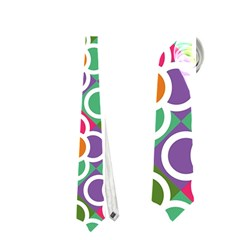 Modernist Floral Tiles Neckties (Two Side)