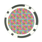 Modernist Floral Tiles Poker Chip Card Guards Back