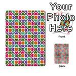 Modernist Floral Tiles Multi-purpose Cards (Rectangle)  Back 15