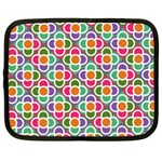 Modernist Floral Tiles Netbook Case (Large) Front
