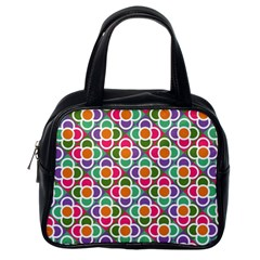 Modernist Floral Tiles Classic Handbags (One Side)