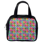 Modernist Floral Tiles Classic Handbags (One Side) Front