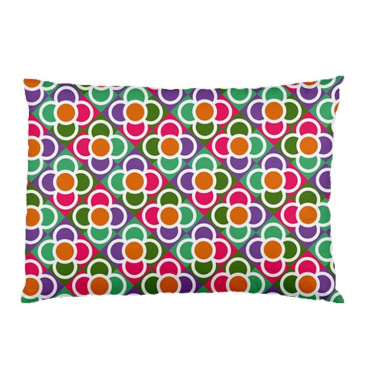 Modernist Floral Tiles Pillow Case