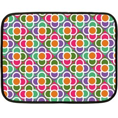 Modernist Floral Tiles Double Sided Fleece Blanket (Mini)