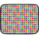 Modernist Floral Tiles Double Sided Fleece Blanket (Mini)  35 x27 Blanket Back
