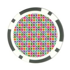 Modernist Floral Tiles Poker Chip Card Guards (10 Pack)
