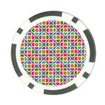 Modernist Floral Tiles Poker Chip Card Guards (10 pack)  Front