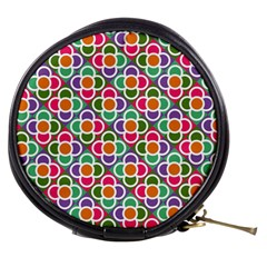 Modernist Floral Tiles Mini Makeup Bags