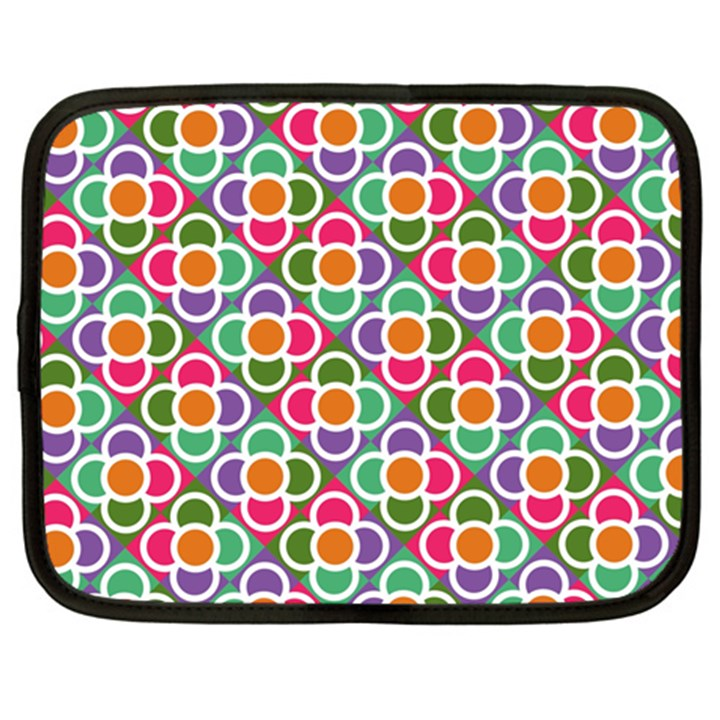 Modernist Floral Tiles Netbook Case (XXL)