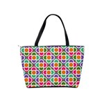 Modernist Floral Tiles Shoulder Handbags Back