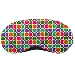 Modernist Floral Tiles Sleeping Masks Front