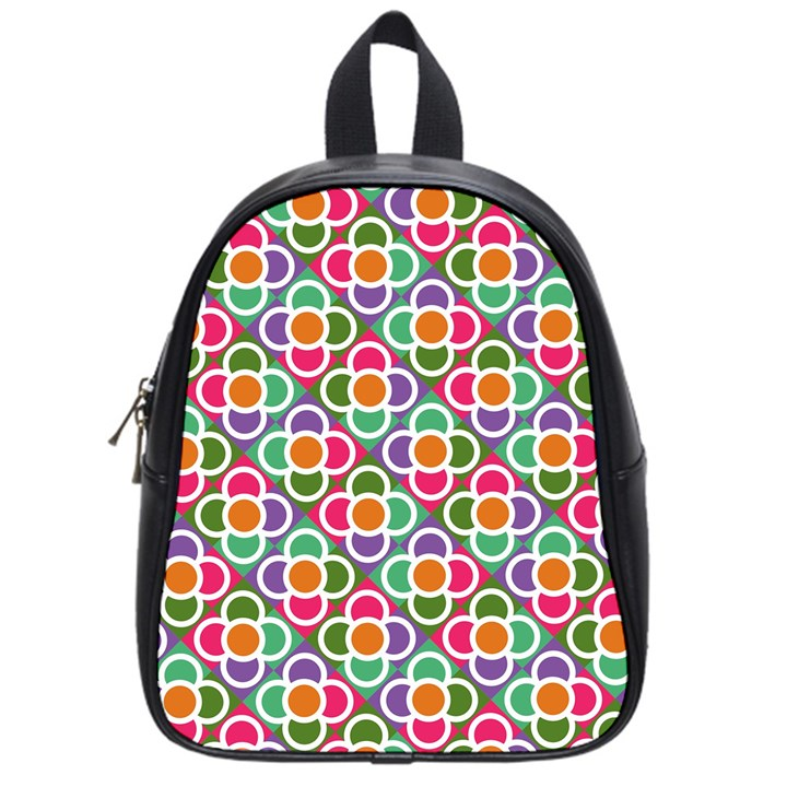 Modernist Floral Tiles School Bags (Small)