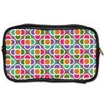 Modernist Floral Tiles Toiletries Bags 2-Side Front