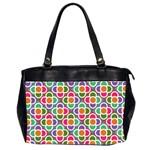 Modernist Floral Tiles Office Handbags (2 Sides)  Front