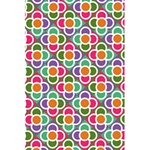 Modernist Floral Tiles 5.5  x 8.5  Notebooks Back Cover Inside