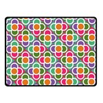 Modernist Floral Tiles Fleece Blanket (Small) 50 x40 Blanket Front