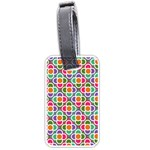 Modernist Floral Tiles Luggage Tags (One Side)  Front