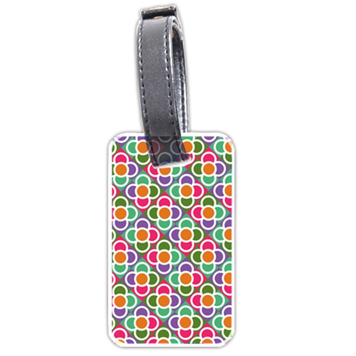 Modernist Floral Tiles Luggage Tags (Two Sides)