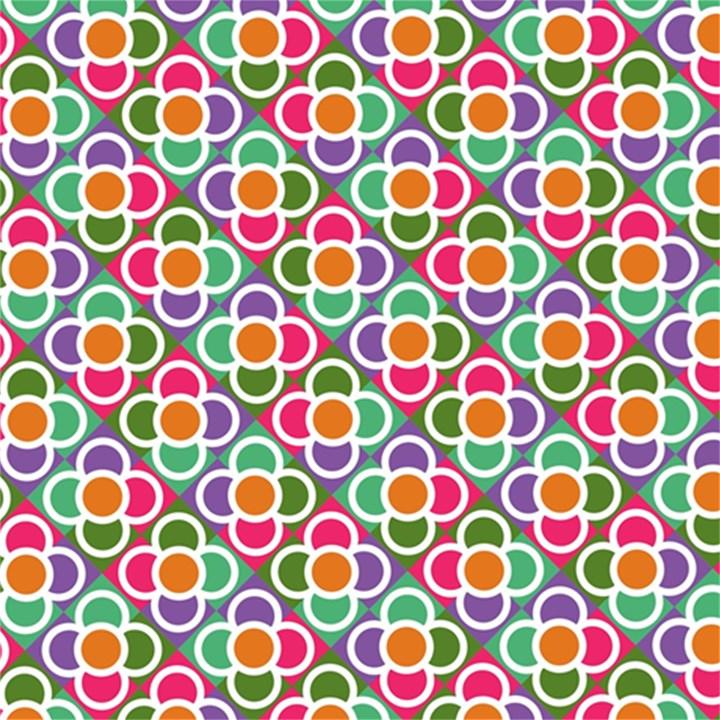 Modernist Floral Tiles Magic Photo Cubes