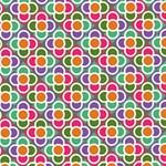 Modernist Floral Tiles Magic Photo Cubes Side 2