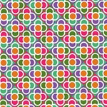 Modernist Floral Tiles Magic Photo Cubes Side 5