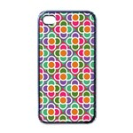 Modernist Floral Tiles Apple iPhone 4 Case (Black) Front