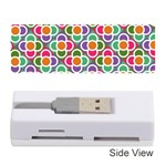 Modernist Floral Tiles Memory Card Reader (Stick)  Front