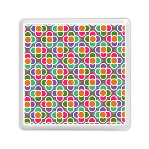 Modernist Floral Tiles Memory Card Reader (Square)