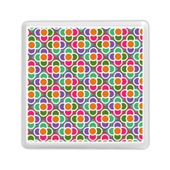 Modernist Floral Tiles Memory Card Reader (Square)