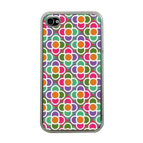 Modernist Floral Tiles Apple iPhone 4 Case (Clear)