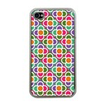 Modernist Floral Tiles Apple iPhone 4 Case (Clear) Front