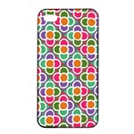 Modernist Floral Tiles Apple iPhone 4/4s Seamless Case (Black) Front