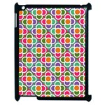 Modernist Floral Tiles Apple iPad 2 Case (Black) Front