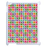 Modernist Floral Tiles Apple iPad 2 Case (White) Front