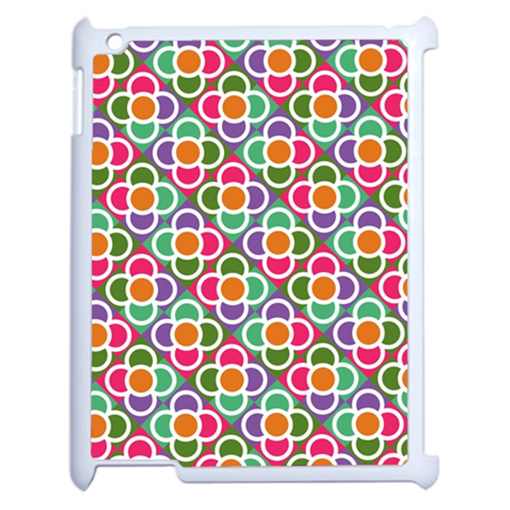 Modernist Floral Tiles Apple iPad 2 Case (White)