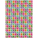 Modernist Floral Tiles I Love You 3D Greeting Card (7x5) Inside