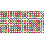 Modernist Floral Tiles PARTY 3D Greeting Card (8x4) Front