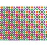 Modernist Floral Tiles WORK HARD 3D Greeting Card (7x5) Back