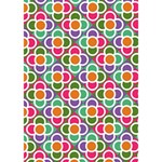 Modernist Floral Tiles Get Well 3D Greeting Card (7x5) Inside