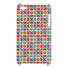 Modernist Floral Tiles Apple iPod Touch 4