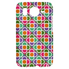Modernist Floral Tiles HTC Desire HD Hardshell Case