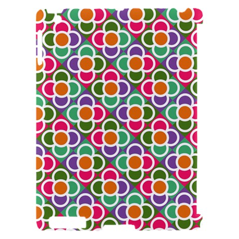 Modernist Floral Tiles Apple iPad 2 Hardshell Case (Compatible with Smart Cover)