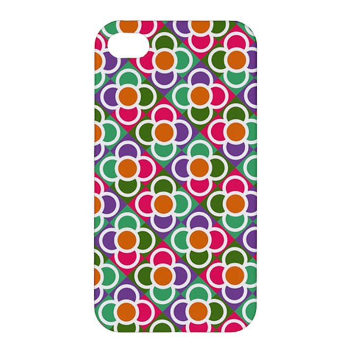 Modernist Floral Tiles Apple iPhone 4/4S Premium Hardshell Case