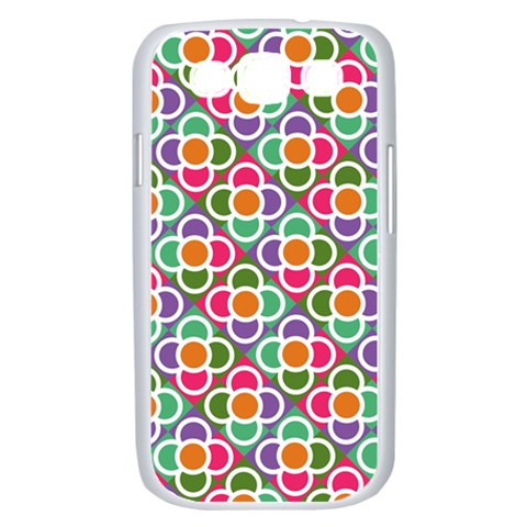 Modernist Floral Tiles Samsung Galaxy S III Case (White)