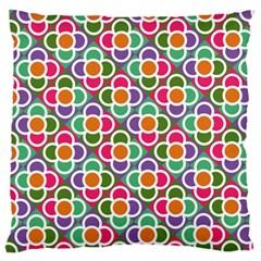 Modernist Floral Tiles Large Cushion Case (one Side)