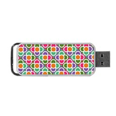 Modernist Floral Tiles Portable Usb Flash (two Sides)