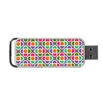 Modernist Floral Tiles Portable USB Flash (Two Sides) Front