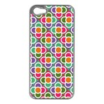 Modernist Floral Tiles Apple iPhone 5 Case (Silver) Front